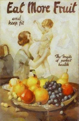 Pear Mixed Media - Vintage Health Ad by Dan Sproul