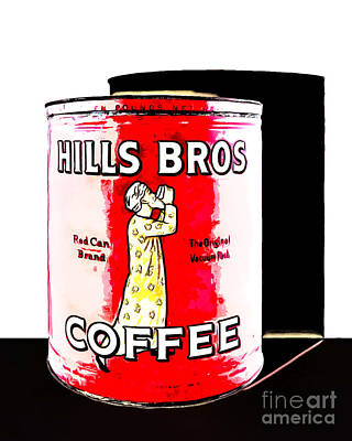 Photograph - Vintage Hills Brothers Coffee 20140918poster by Wingsdomain Art and Photography