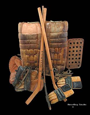 Vintage Hockey Equipment #2 Art Print by Spencer Hall