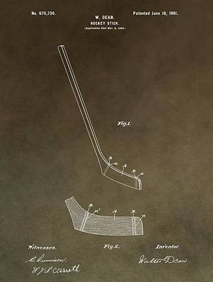 Vintage Hockey Stick Patent Print by Dan Sproul