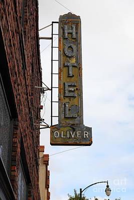 Vintage Hotel Oliver Santa Rosa California 5d25884 Art Print by Wingsdomain Art and Photography