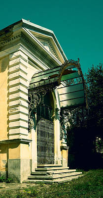 Photograph - Vintage House With Damaged Glass Canopy by Vlad Baciu