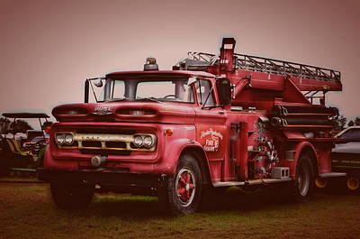 Photograph - Vintage Howe Fire Truck by Ronald T Williams