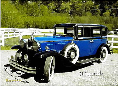 Photograph - Vintage Huppmobile by Sadie Reneau