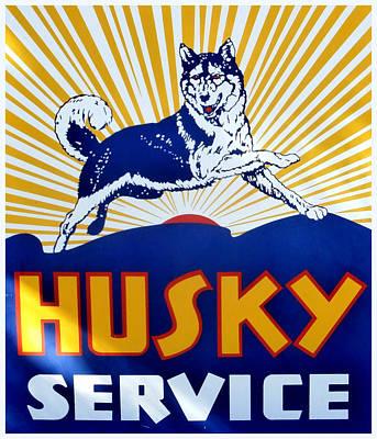 Vintage Husky Sign Art Print by Karyn Robinson