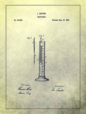 Vintage Hydrometer Patent Art Print by Dan Sproul