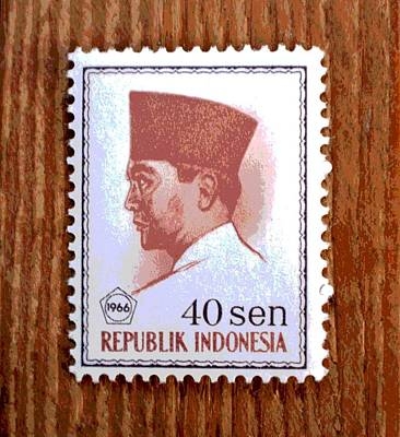 Photograph - Vintage Indonesia Stamp by Deena Stoddard