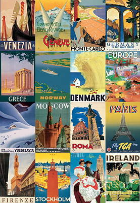 Vintage Italian Poster Imported From Florence Travel Europe Original