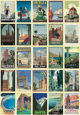 Vintage Italian Poster Imported From Florence Travel Italy Original by Desiderata Gallery