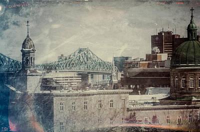 Photograph - Vintage Jacques Cartier Bridge by Martin New