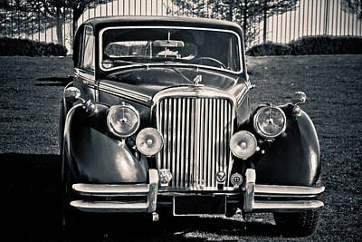 1950s Fashion Digital Art - Vintage Jaguar 1950s by Eti Reid