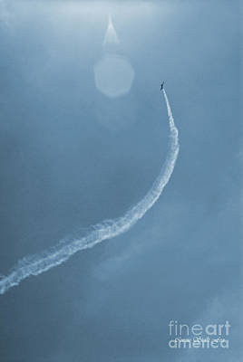 Photograph - Vintage Jet In Teal Blue by Connie Fox