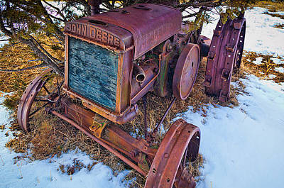 Machinery Photograph - Vintage John Deere by Inge Johnsson