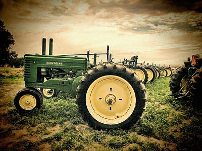 Photograph - Vintage John Deere Tractors by Ken Smith