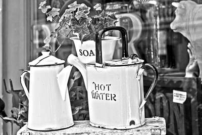 Water Jug Photograph - Vintage Jugs by Georgia Fowler