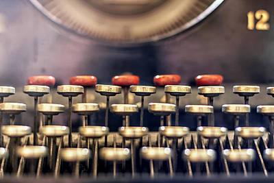 Typewriter Photograph - Vintage Keys by Georgia Fowler