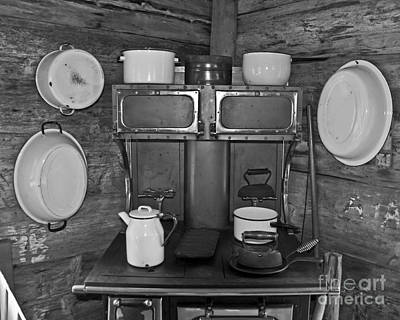 Vintage kitchen and wood stove photograph by valerie garner - Valerie garnering ...