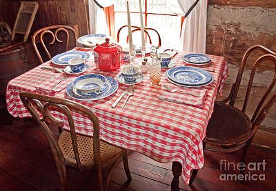 Photograph - Vintage Kitchen Table Art Prints by Valerie Garner