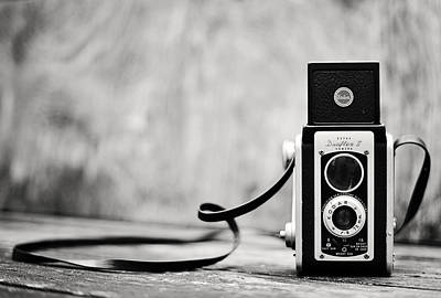 Photograph - Vintage Kodak Duaflex II Camera Black And White by Terry DeLuco