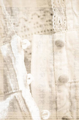 Photograph - Vintage Lace Unbuttoned by Marie Jamieson
