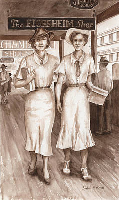 Painting - Vintage Ladies by Barbel Amos
