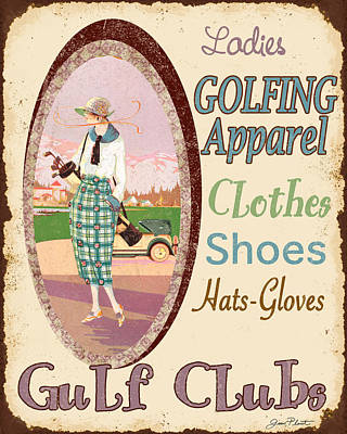 Shoe Digital Art - Vintage Ladies Golf  by Jean Plout