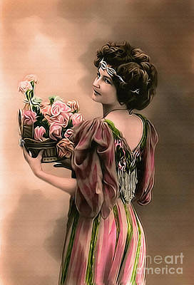 Photograph - Vintage Lady Emma by Redesign by Lesa Fine