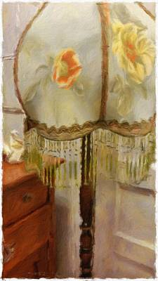 Historic Home Mixed Media - Vintage Lamp by Bonnie Bruno