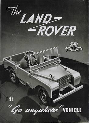 Land Rover Photograph - Vintage Land Rover Advert by Georgia Fowler