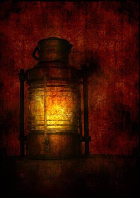 Burnt Digital Art - Vintage Lantern by Modern Art Prints