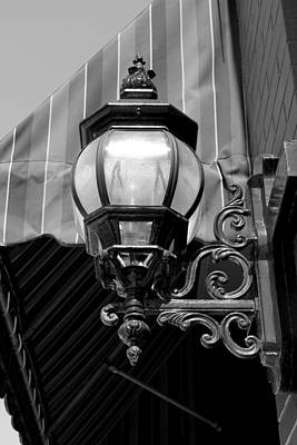 Photograph - Vintage Lantern Port Huron Bw by Mary Bedy