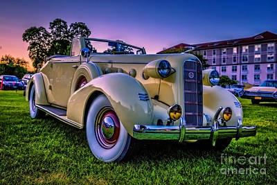 Caddy Photograph - Vintage Lasalle Convertible by Edward Fielding