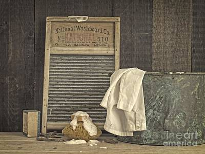 Primitive Art Photograph - Vintage Laundry Room II By Edward M Fielding by Edward Fielding
