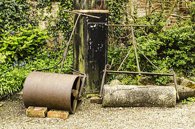 Rolled Yard Photograph - Vintage Lawn Rollers 2 by Linsey Williams