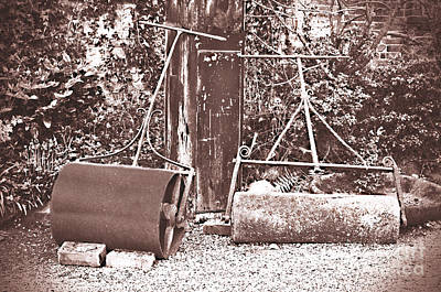 Rolled Yard Photograph - Vintage Lawn Rollers by Linsey Williams