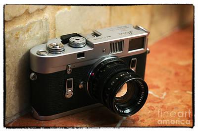 35mm Photograph - Vintage Leica M4 by John Rizzuto
