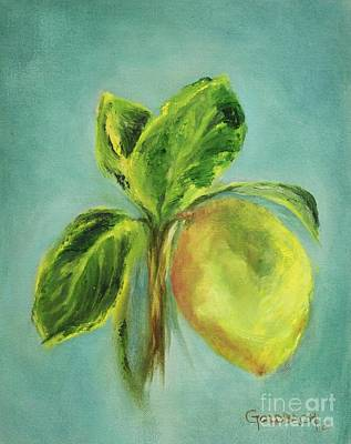 Vintage Lemon I Art Print