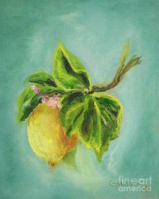 Painting - Vintage Lemon II by Kathy Lynn Goldbach