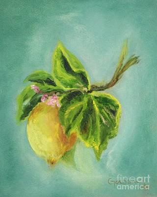 Vintage Lemon II Art Print