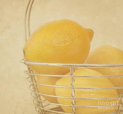 Vintage Lemons Still Life Art Print by Kim Hojnacki