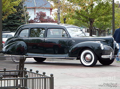 Photograph - Vintage Lincoln Limo 1941 by Bobbee Rickard