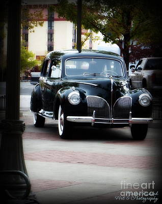 Photograph - Vintage Lincoln Limo I by Bobbee Rickard