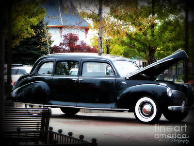 Photograph - Vintage Lincoln Limo II by Bobbee Rickard