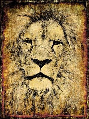 Digital Art - Vintage Lion King by Georgiana Romanovna