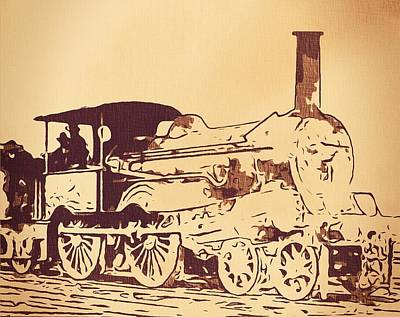 Passengers Mixed Media - Vintage Locomotive by Dan Sproul
