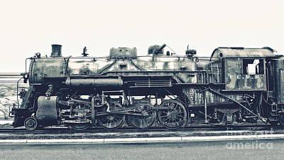 Vintage Locomotive Art Print by Emily Kay