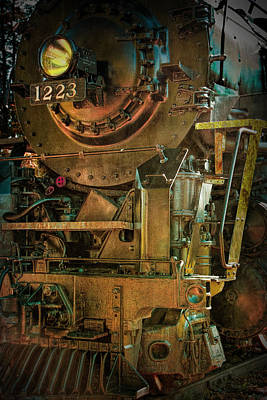 Photograph - Vintage Locomotive Train Engine Of The Pere Marquette Railway by Randall Nyhof