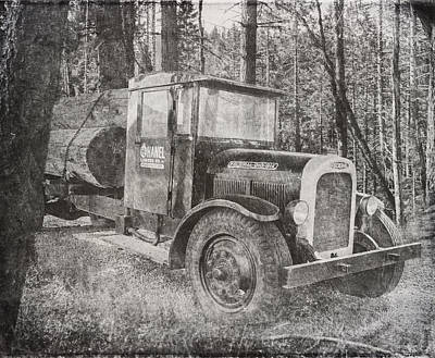 Vintage Logging Truck Art Print