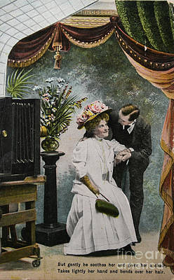 Photograph - Vintage Love In Photostudio by Patricia Hofmeester