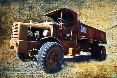 Photograph - Vintage Mack Trucks by Steve McKinzie